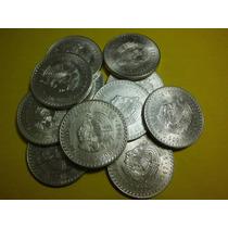 Cuauhtemoc Cinco Pesos Fechas 1947 Y 1948 Plata Ley 0.900