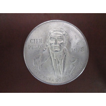 Moneda Cien Pesos Morelos 1978. De Plata Ley .720