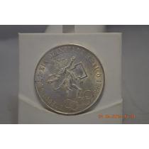 Moneda Olimpica De Plata Ley .720 De 1968 Aros Bajos