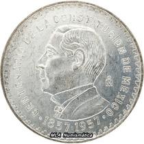 1957 $ 1 Peso Juárez Constitución Sin Circular