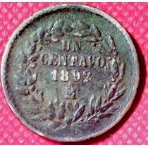 1 Centavo 1892 México Presidente General Porfirio Díaz - Hm4