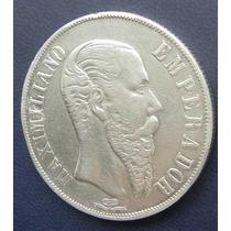 Moneda Mexico 1 Peso 1866 Plata Maximiliano