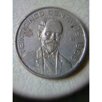 Moneda 25 Centavos 1966 Mo Emision Baja