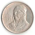 Moneda Un Peso Morelos 1950 Plata