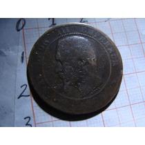 Moneda Napoleon Iii Emperador Diez Centavos