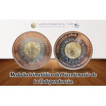 Medalla Trimetalica Bicentenario Independencia Nueva De Cmm