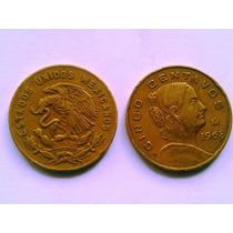 Moneda 5 Centavos - Josefa Ortiz De Dominguez - 1956,1968