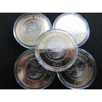 Moneda 20 Pesos Fuerza Aerea 2015 Centenario En Capsula