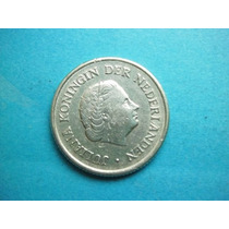 Antillas Holandesas Moneda 1/4 De Gulden Fecha 1967 Plata