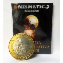 Moneda $20 Pesos Octavio Paz 2010 Excelente Condición.