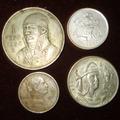 Cono Monetario 1 Peso 50, 25 Y 5 Centavos 1950 Plata Niquel