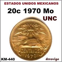 20 Cent. 1970 Mo Nueva, Brillante Sin Circular Eum