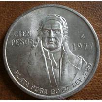 Moneda De Plata Pura 100 Pesos 1977