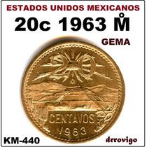 20 Cent 1963 Mo Unc Gema Eum
