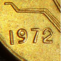 Moneda 1 Centavo 1972 Sobre Fecha 2 Sobre 2 Variedad 1972/2