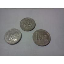 Lote De 3 Monedas De 200 Pesos Aniversarios Y Mundial 86