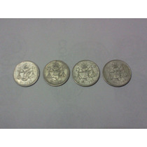 Monedas Antiguas 25 Cvs. Balanza Plata.300 Serie 4 Pzs C/env