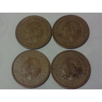 4 Monedas Antiguas 50 Cvs. Cuauhtemoc Serie Comp 55-59 C/env