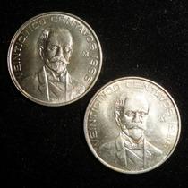 Dos Moneda 25 Centavos 1966 Pico Cerrado Y Abierto Brillo Bu