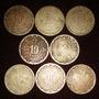 Monedas 10 Centavo Calendario Azteca Lote Serie De 1936 1946