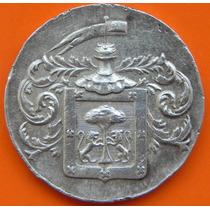 Medalla Banco Mercantil De Guadalajara 10 Anv Plata