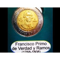 Moneda Conmemorativa 5 Pesos Bicentenario Centenario