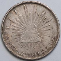 Aaaa 1902 8 Reales Zs Rara Moneda Mexicana Peso Au Plata Cf1