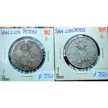 Lote (2) Monedas Pesos Balanza Slp !!
