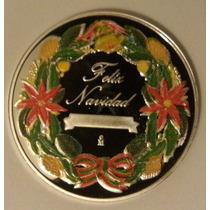 Medalla Niño Dios Y Corona De Navid. 1 Onza Plata Pura Proof