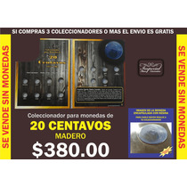 Coleccionador Para Monedas De 20 Centavos Serie Madero