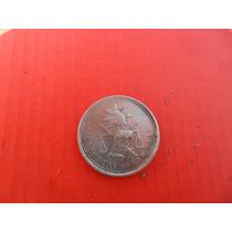 Moneda De Plata 25 Centavos Balanza Maximiliano 1885 Cnm
