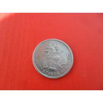 Moneda De Plata 25 Centavos Balanza Maximiliano 1880 Gos