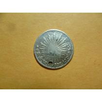 Antig. Moneda De 1/2 R. 1824. Aguila De Perfil Mo. J.m. Plat