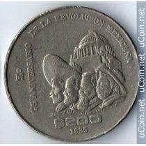 Una Moneda 200 Pesos 75 Aniversario De La Revolución Niquel