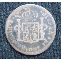 Moneda De Plata 1 Real Columnaria Carolus Iii 1755 Mexico Mo