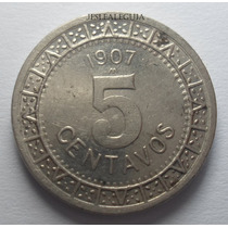 5 Centavos 1907 Estados Unidos Mexicanos - Brillo Original