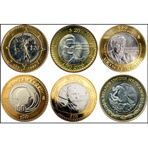 Monedas Conmemorativas 20 Pesos Zacatecas, Veracruz, Octavio