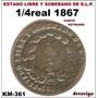 1/4 Real 1867 S.l.p. Republica
