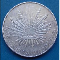 Moneda México 8 Reales Culiacan 1893 Am Condicion