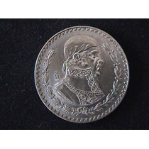 Moneda De 1 Peso Plata Morelos 1957