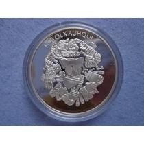 Medalla Coyolxauhqui-águla De Tlatelolco Plata 0.999 Proof