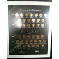 Cuadro Coleccionador De Monedas 5 Pesos Bicentenario Op4