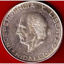 Hidalgo $5 Plata 0.720 Brillante 1955 Casi S/c En $250 Op4