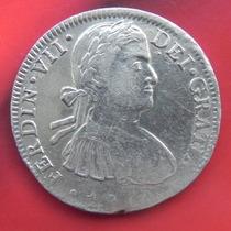 Moneda México Fernando Vii Busto Armado 1810 México Plata
