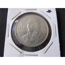 Moneda 1 Peso 1950 Ley.300 Morelos