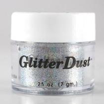 Mehron Glitter Polvo - Holográfica Plata H (0,25 Oz / 7 G)