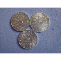 Lote Tres Monedas De 25 Schilling Austria