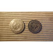 Par De Antiguas Monedas Mexicanas.