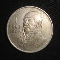 Moneda Un 1 Peso Morelos 1950 Plata