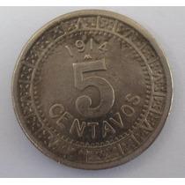 5 Centavos 1914 Niquel Estados Unidos Mexicanos